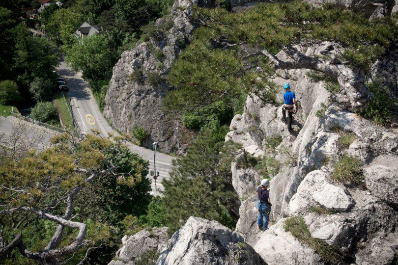Mödlinger Klettersteig : Der robert karpfen klettersteig in mödling b c u rawstria