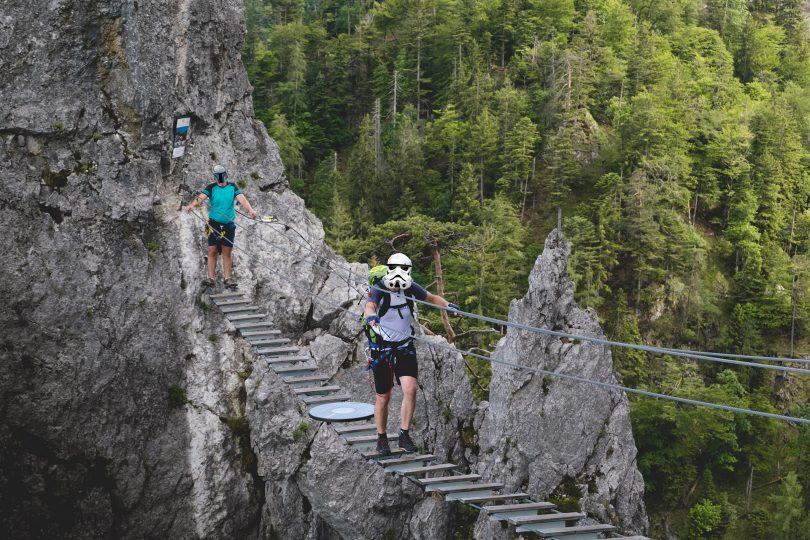 Klettersteig Drachenwand : Der drachenwand klettersteig c d u rawstria