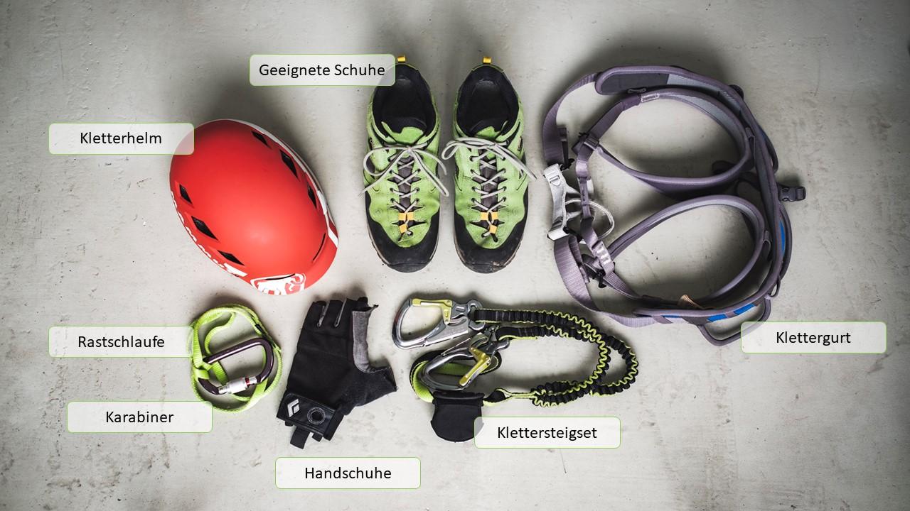 Klettergurt Klettersteig : Klettersteig die richtige ausrüstung u rawstria
